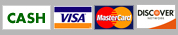Accepted Payments: cash, visa, mastercard, discover