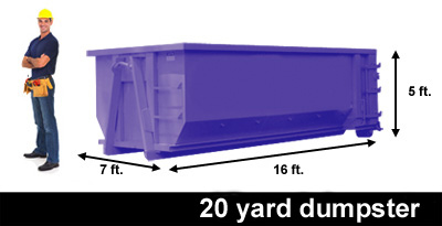 20 yard container, dumpster
